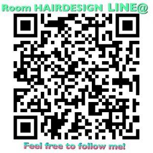 Room HAIRDESIGNのLINE@QRコードです